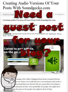 Guest Posts For You To USE: Our New Free Service - Tim's Minions  This is just going to be a quick short post today to introduce you to our new page on the site 'Guest Posts For You To USE' where you can go and find quality Tim's Minions articles that you can add to YOUR site for free.