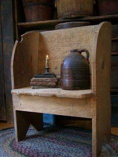 primitive bench seat