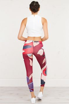 995cf9cad8 Adidas Rita Ora 3 Stripes Athletic Leggings in Multi White