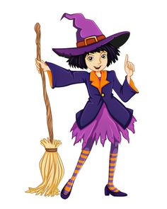 Good Halloween Witch Image, Witch Broom Image, Teen Witch Image, Large Halloween Witch, Transparent Cutout, Room Décor, Wall, Home Décor by ArtMyWaybyKEBlevins on Etsy