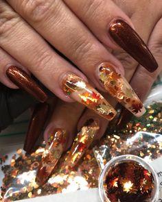 Ongles de printemps - New Ideas Aycrlic Nails, Dope Nails, Fall Nail Art Designs, Acrylic Nail Designs, Fancy Nails Designs, Gorgeous Nails, Pretty Nails, Nails Kylie Jenner, Fall Acrylic Nails