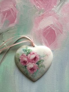 $30.00 Hand painted Romanic heart by Farnaz F