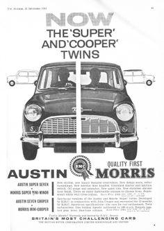 Austin Morris Mini-Cooper Motor Car Autocar Advert 1961