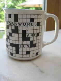 Vintage Crossword Puzzles are Fun Mug by VintageByThePound on Etsy, $12.50