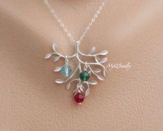 Customise It Gift Idea Birthstone Name Necklance