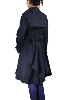 ChicStar.com Black Elegant Breeze Layering Lined Japan Coat