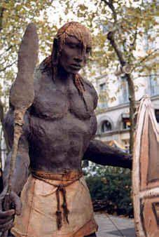 Sculpture de l'artiste Sow