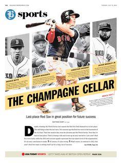 The champagne cellar, The Burlington Free Press, by JJ Alcantara #newsdesign #redsox #baseball