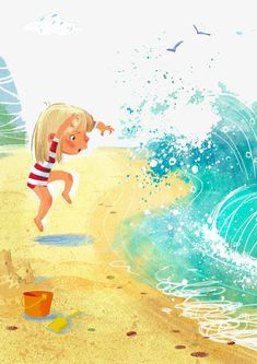 Anna Chernyshova on Behance Beach Illustration, Illustration Vector, Creative Illustration, Children's Book Illustration, Book Illustrations, Paint Vector, Cute Art, Painting & Drawing, Illustrators