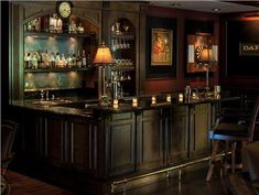 Dark Traditional Bar by Linda Allen