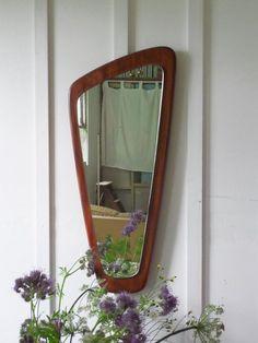 Vintage Wall Mirror Danish Teak Mirror by TheVintagewareStore, £75.00