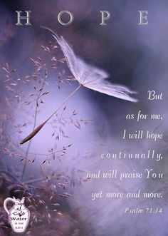 HOPE ~ Psalm 71.14 ~ 2015-0703