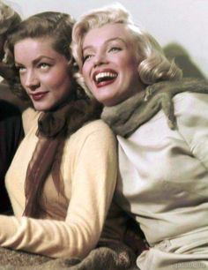 Lauren Bacall and Marilyn Monroe photographed during the production of How to Marry a Millionaire by Earl Theisen, 1953.