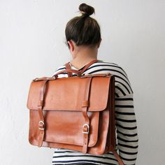 Image of Backpack #1 Leather Satchel
