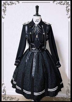 Here is the collection of military Lolita style dresses, jackets, skirts, blouses and accessories Pretty Outfits, Pretty Dresses, Beautiful Outfits, Kawaii Fashion, Cute Fashion, Gothic Lolita Fashion, Old Fashion Dresses, Fashion Outfits, Moda Lolita