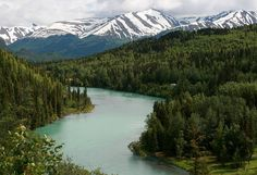 The Kenai River, my favorite place to go rafting.