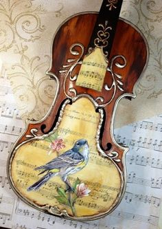 Violin Art By Toni Kelly ~ this is beautiful! Violin Art, Violin Music, Sound Of Music, Music Is Life, Musica Celestial, Cool Violins, Guitar Painting, Music Notes, Classical Music