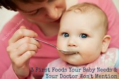 The best first foods for baby are cooked egg yolks and avocado