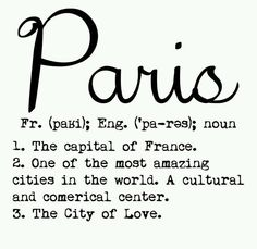 Paris (n) .the capital of France, one of the most amazing cities in the world, a cultural and commercial center.the city of love♥ Tour Eiffel, Torre Eiffel Paris, Paris 3, I Love Paris, Paris France, Paris Girl, Paris Style, Just Dream, Paris Apartments