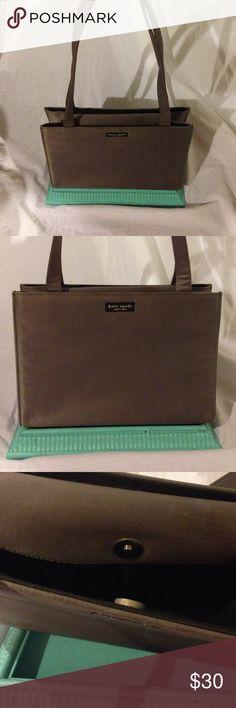 Vintage Kate Spade grey Medium Shopper. Vintage Kate Spade Medium Shopper. Slate grey nylon. 11 inches by 8 inches. *some spots* kate spade Bags Shoulder Bags