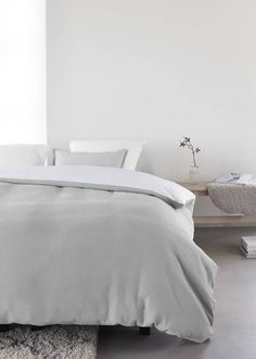 AT HOME dekbedovertrek At Home Living Grey