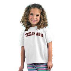 Texas A&M Aggies NCAA Arched White Toddler T-Shirt