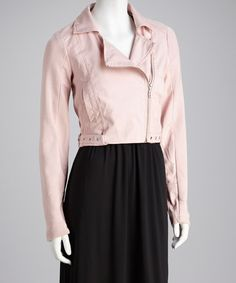 Take a look at this Pink Trapenta Moto Jacket by Therapy on #zulily today!