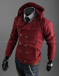 a5878dcdbd17 Double breasted Power RED button up hoodie. Double Breasted Jacket, Hoodie  Jacket, Red