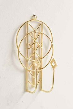 Shop Imani Wall Hook at Urban Outfitters today. Jewelry Hooks, Jewelry Stand, Jewellery Storage, Gold Jewelry, Key Hooks, Wall Hooks, Magical Thinking, Dressing Area, Room Essentials