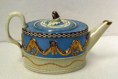 pearlware teapot, given to us in 1953 by a major English ceramics co.