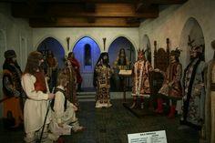 Neamt Citadel. Throne room diorama with Voivode, boyars and guardsmen