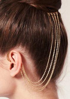 love a good ear cuff Ear Jewelry, Cute Jewelry, Body Jewelry, Jewelry Accessories, Fashion Accessories, Jewelry Design, Fashion Jewelry, Unique Jewelry, Jewellery
