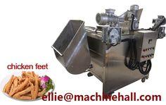 Chicken Feet Frying Machine http://www.fried-machinery.com/products/meat-fryer/chicken-feet-fryer.html
