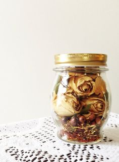 For when josh buys me flowers, i can dry them  put in a jar. Probably add potpourri oil to it for smell.