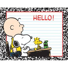 Hello first day of school for charlie snoopy and woodstock