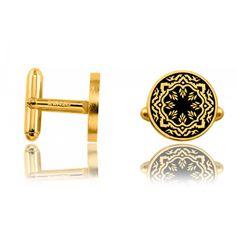 Boutons de manchettes doré Epsila - Kenzo Kenzo, En Vogue, Cuffs, Jewelry Collection, Male Jewelry, Buttons