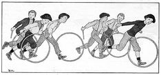 Boys with hoops, illustration by Louis-Maurice Boutet de Monvel