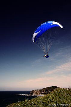 Paraglider at Mona Vale Beach, Sydney, Australia ---I want to do this soooo badly