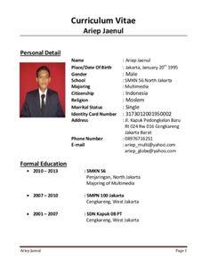 bentuk curriculum indonesia resume