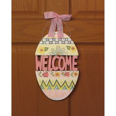 """Easter Egg """"Welcome"""" Sign - OrientalTrading.com"""