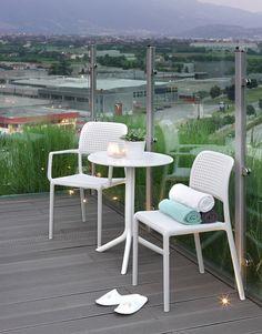 Bora Chair Side and Arm - White - Nardi