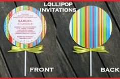 DIY lollipop invitations