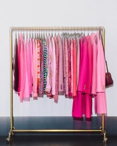 We challenged @manrepeller's Leandra Medine to wear pink for five days straight. See how she did & shop her looks via the link in our bio. #speakjcrew Then show us what you'd do with this rack of pink clothes with the hashtag #jcrewchallenge. We'll regram our favorites.
