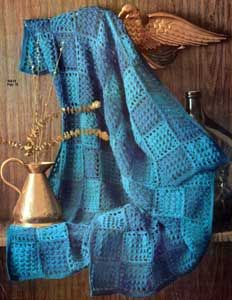 Two Tone Block Afghan | Number 742-12 | Crochet Patterns
