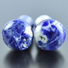 23mm Plug w Flared Ends Agate Black Jewelry by Sweet Pea Natural Stone Plug w Flares 7//8G
