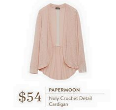 Please please stitch fix would love this for spring!Paper moon noly  crochet cardigan