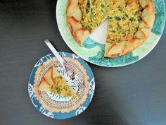 """torta de espinafre e ricota com """"massa"""" de batatas"""