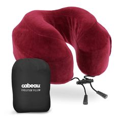 Cabeau Evolution Memory Foam Travel Pillow - Travel Made Better - The Best Neck Pillow with 360 Head & Neck Support, Crimson Best Neck Pillow, Neck Pillow Travel, Travel Pillows, Travel Essentials For Women, Pillow Crafts, Camping Pillows, Head And Neck, Memory Foam, Evolution