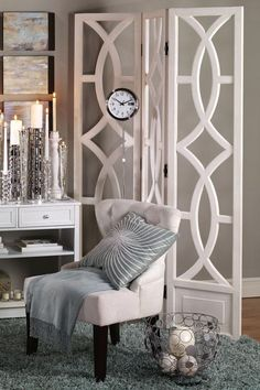 Charleston 3-Panel Room Divider - Room Dividers - Home Accents - Home Decor | HomeDecorators.com