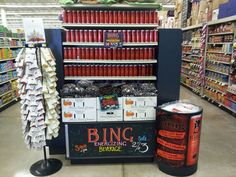 Bing and cherries co-display at Family Thriftway!